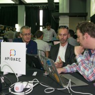 Joris reviewing his ideas with Luis from Apidaze
