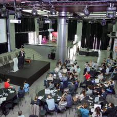 Mark Shuttleworth, founder Ubuntu, giving a live demo of Juju Charms