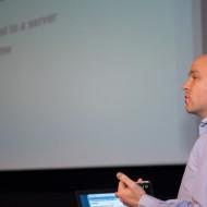 Alex from Nexmo explaining their developer resources