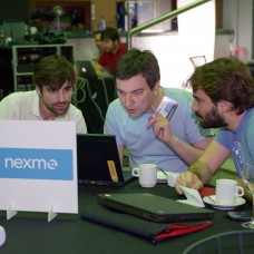 Anton from Nexmo working with developers