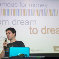 Pitching Famous4Money by Jairo Canales, Francisco, Sergio, Mar, and Natalia, a humanitarian app
