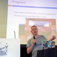 Tim Panton (Truphone prize winner) pitching Fragment at TADHack 2014