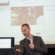 Joris Swinnen pitching using Webr.tc live at TADHack