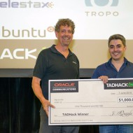 TADHack 2014 Oracle Prize winner Asier Arranz with 3DWebRTC