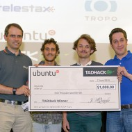 TADHack 2014 Ubuntu Prize winner Pierre and team from Kairos Lab
