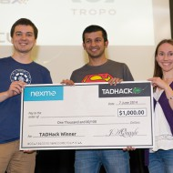 TADHack 2014 Nexmo Prize winner Arjun Kamath and Ella Kaila Super Streamer