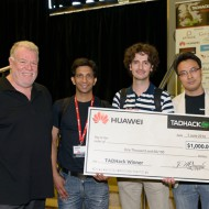 TADHack 2014 Huawei Prize winner eFace2face with Mac, Sushil and Bill