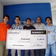 TADHack 2014 Ubuntu Prize Winner José Carlos López and team Parkuest