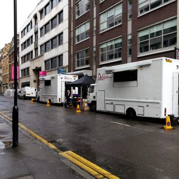 A movies was being filmed close by during the TADHack London